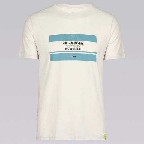 Quotes Tee: Fausto Coppi [Vintage White]