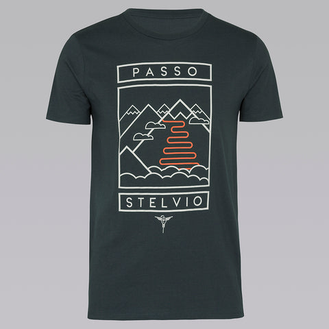 Passo Stelvio T-Shirt - India Ink Grey