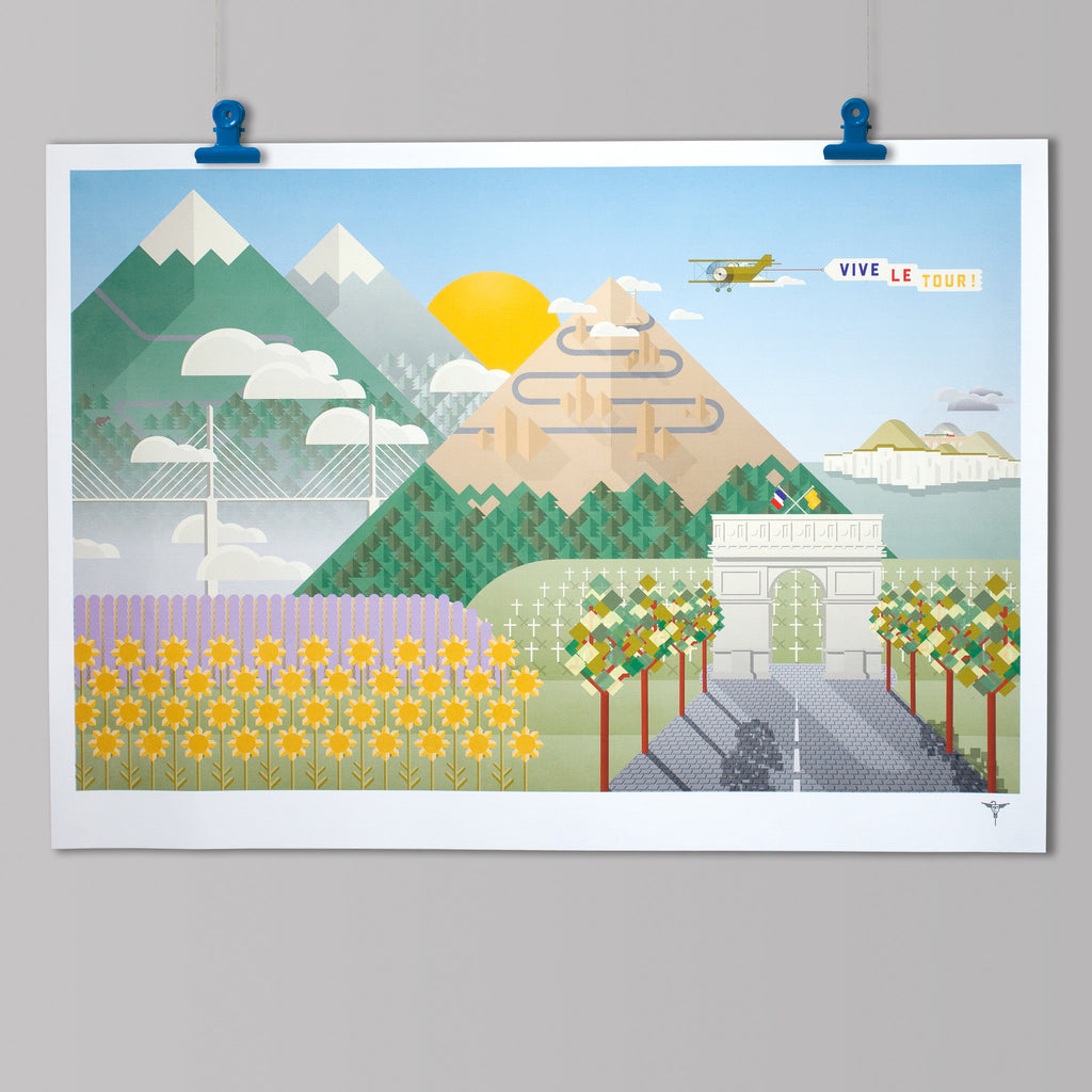 Tour de France Cycling Art