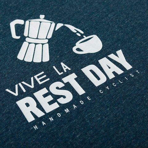Vive La Rest Day Tee - Dark Heather Denim - Unisex