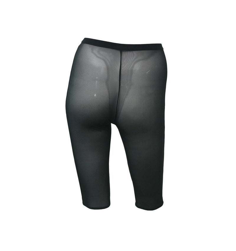 HAMADE High Waisted Cycling Chaps Shorts - Black Mesh