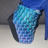 Z PLANET Platform Protectors - Blue Python Print with Laces