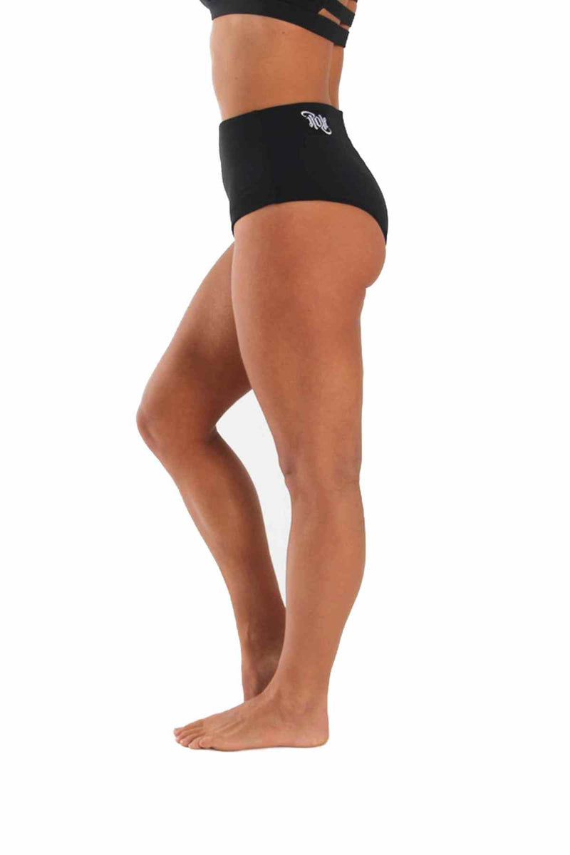 OFF THE POLE High Waisted Shorts - Black