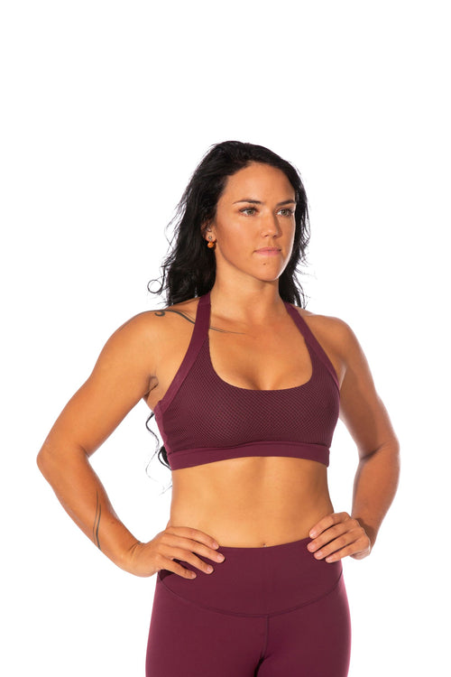 OFF THE POLE Classic Sports Bra - Burgundy