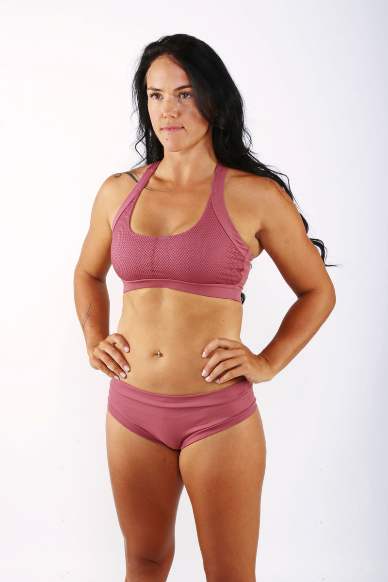 OFF THE POLE Classic Sports Bra - Dusty Pink