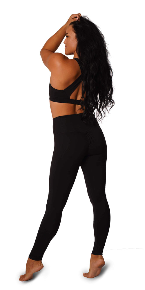 OFF THE POLE Scrunch Butt Leggings - Black