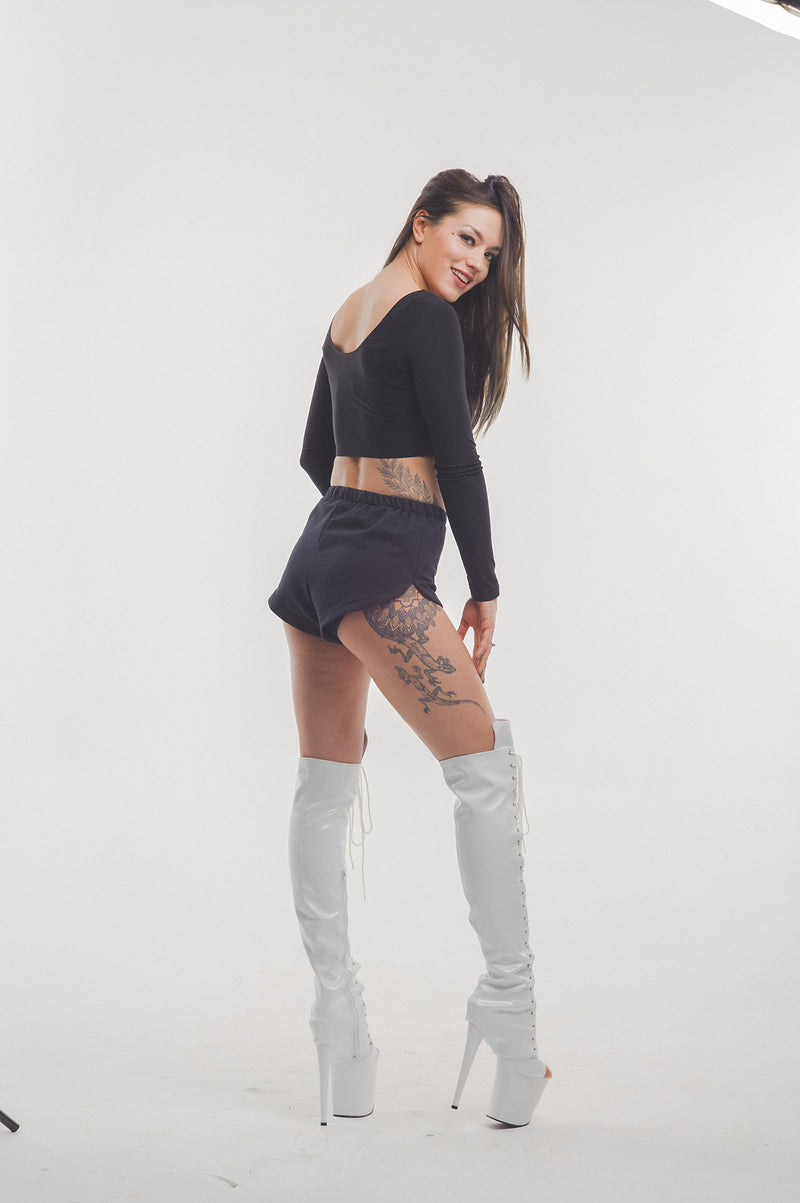 Z PLANET Thigh High Bootsleeves - White Leather