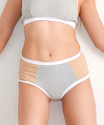 21G'S 2019 S/S Collection High Waisted Shorts - Glitter White