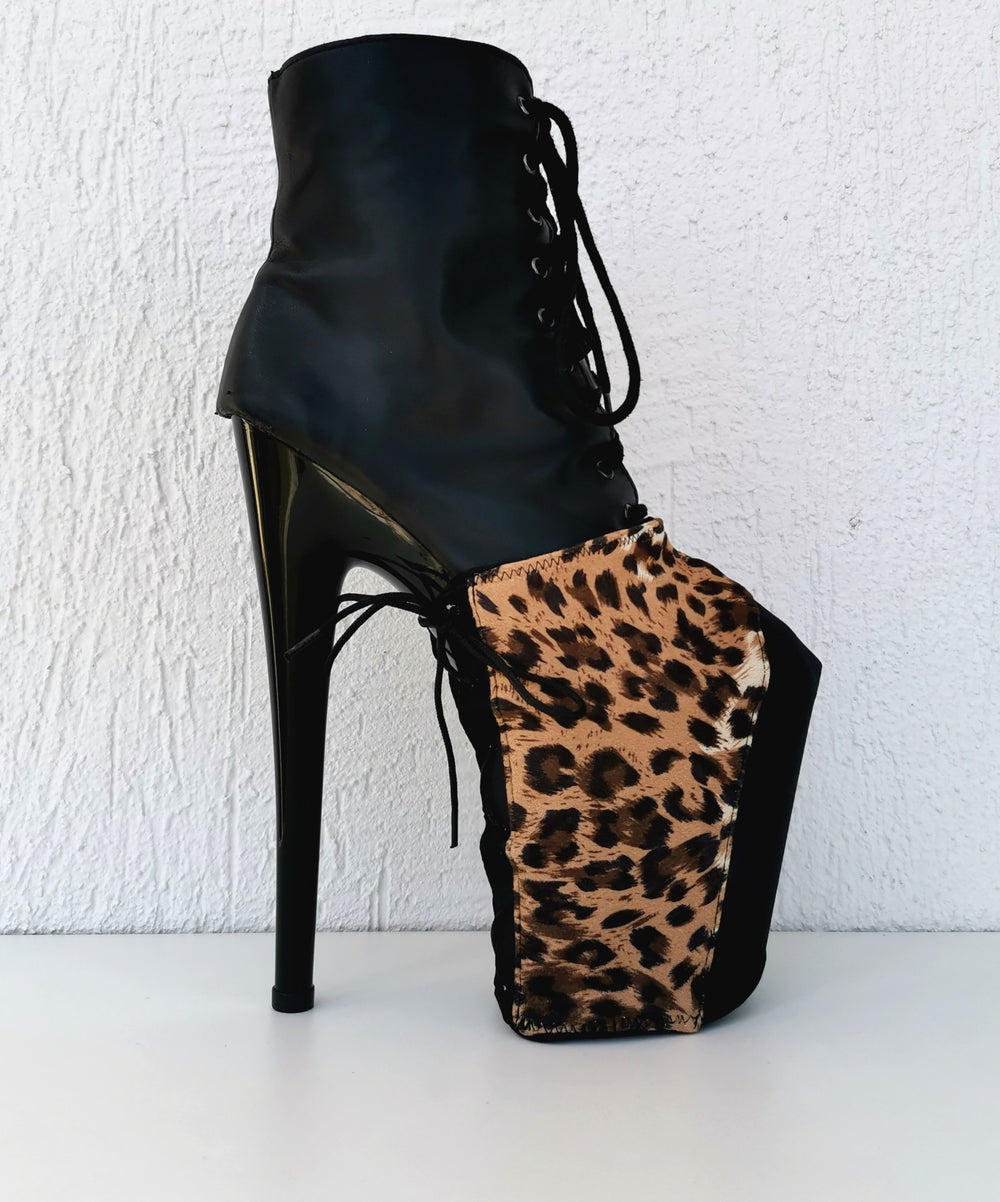 Z PLANET Platform Protectors - Leopard Print with Laces
