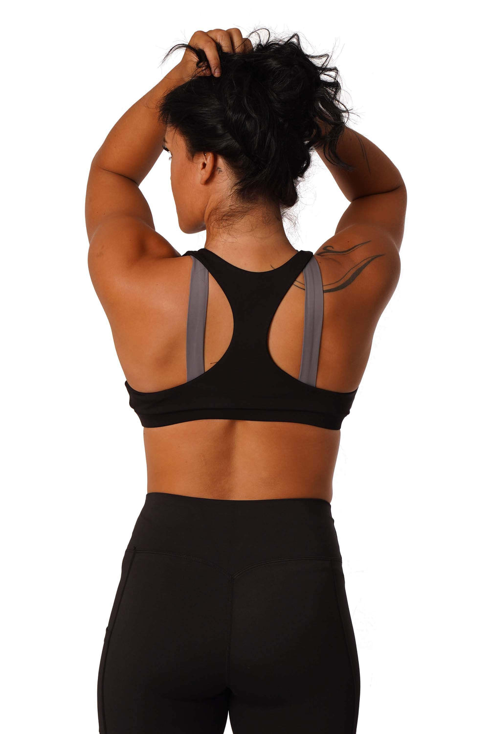 OFF THE POLE Jumelle Sports Bra - Slate Grey