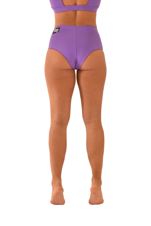 OFF THE POLE High Waisted Shorts - Purple