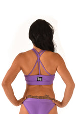 OFF THE POLE Mesh Sports Bra - Purple