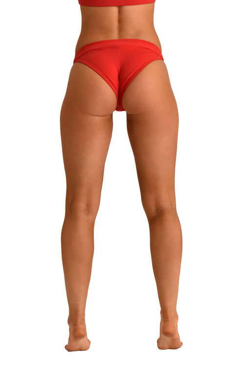 OFF THE POLE Tanga Shorts - Red
