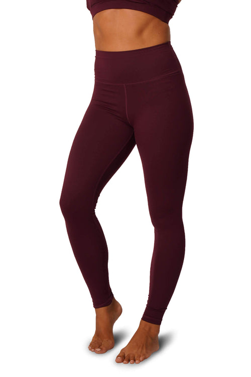 OFF THE POLE Scrunch Butt Leggings - Burgundy
