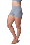 OFF THE POLE Scrunch Butt High Waisted Shorts - Sky Blue