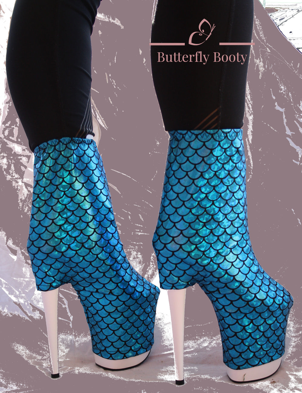 BUTTERFLY BOOTY Boot Covers - Blue Scales