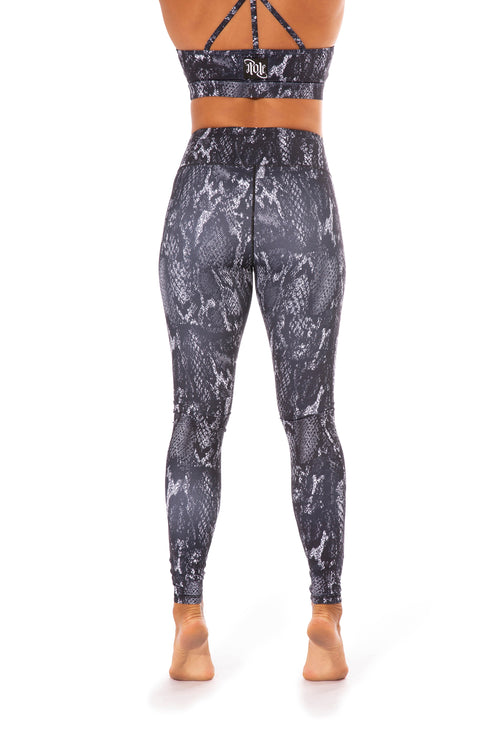 OFF THE POLE Lifestyle Leggings - Smokey Black Snake Print