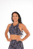 OFF THE POLE Lifestyle Sports Bra - Smokey Black Snake Print