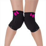 QUEEN Classic Knee Pads - Black Pretty Pink