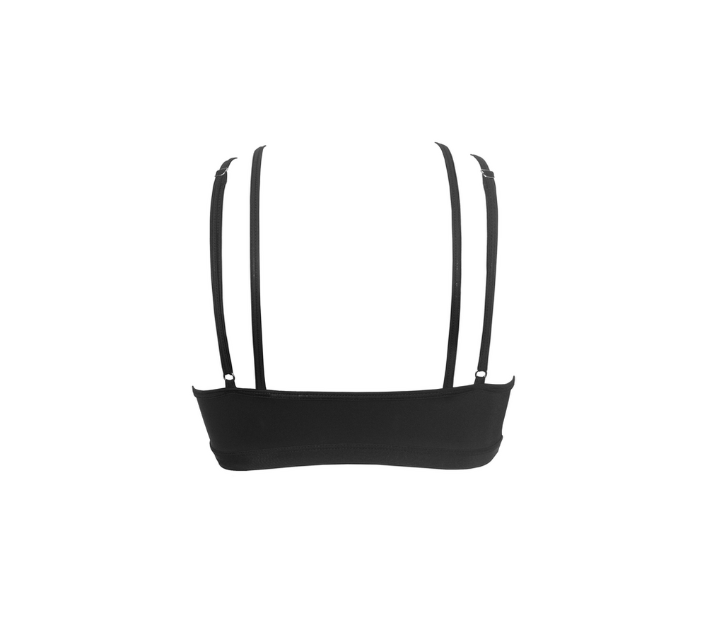 HAMADE Strappy Ring-Front Top - Black