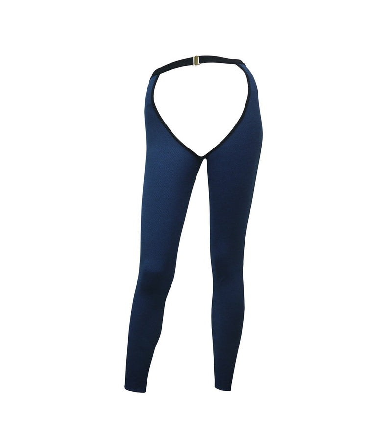 HAMADE High-Waisted Chaps - Blue
