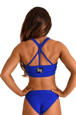 OFF THE POLE Mesh Sports Bra - Royal Blue