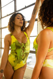 VEKKER LA Claudia Renee Bodysuit - Key Lime Pie