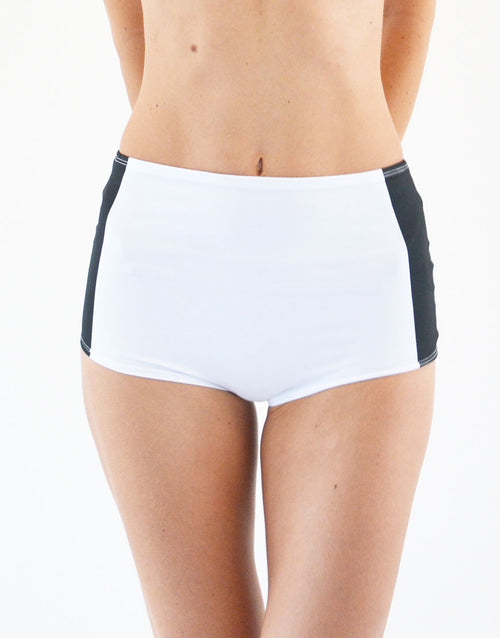 BOOMKATS Martini High Waisted Shorts - Black Line