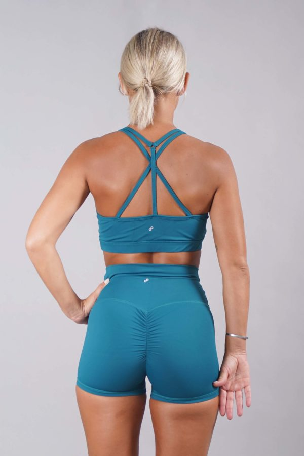 OFF THE POLE Mesh Sports Bra - Deep Sea