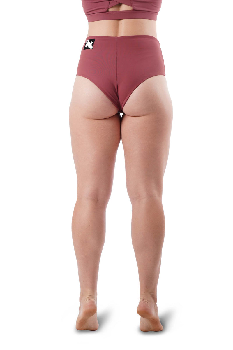 OFF THE POLE High Waisted Shorts - Dusty Pink