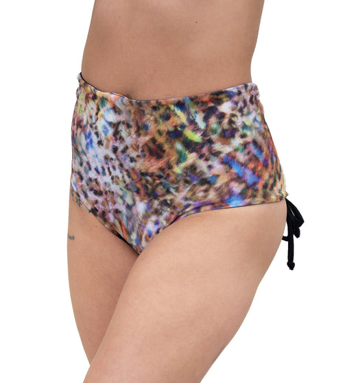 VEKKER LA Hollywood High Waisted Reversible Shorts - Colourful Kitty