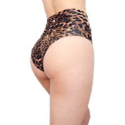 VEKKER LA High Waisted Shorts - Leopard