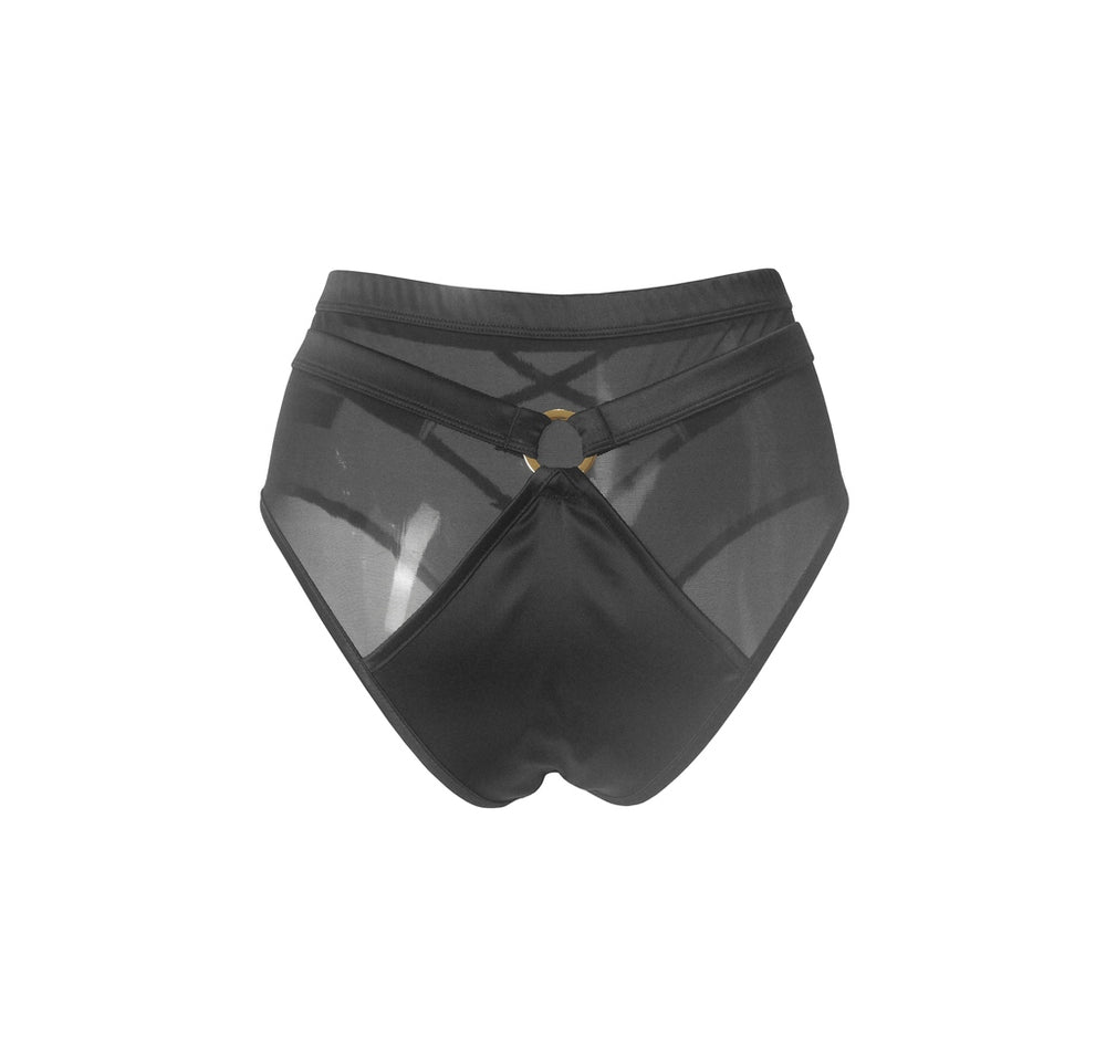 HAMADE High Waisted Mesh Shorts - Black