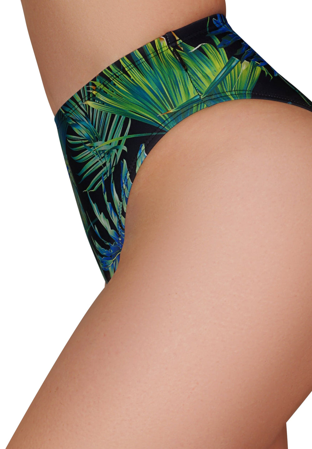 CLEO THE HURRICANE High Waisted Power Print High Rider Hot Pants - Neon Palms