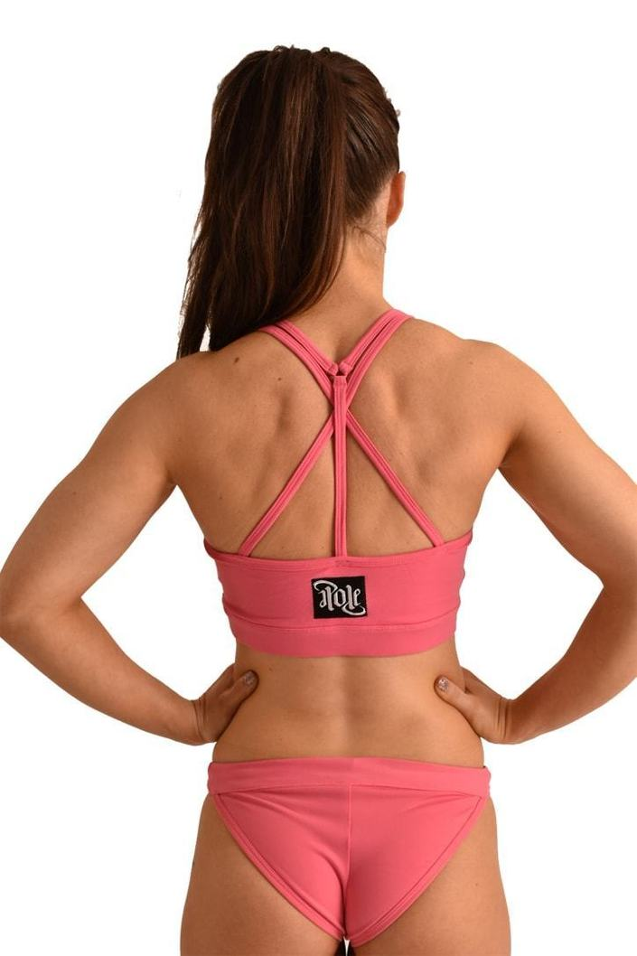 OFF THE POLE Mesh Sports Bra - Pink