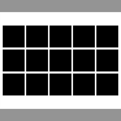 15 box White Grid template