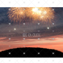 Load image into Gallery viewer, Sparkler Silhouette Digital Backdrop
