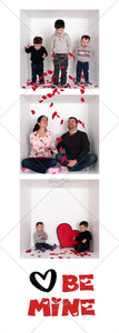 6 Different Film Strip Designs for Valentine's Day Cards