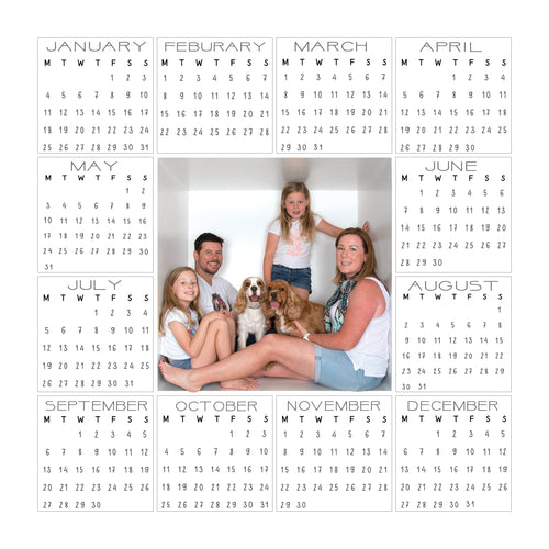 2021 calendar combo | 1 box | 4 box | Customisable headings