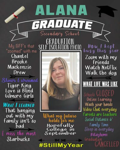 Graduation Time Capsule Chalkboard Digital File
