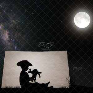Tent Puppets Silhouette Template (6 Backgrounds)