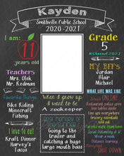 Load image into Gallery viewer, Back to School Chalkboard - Photoshop template