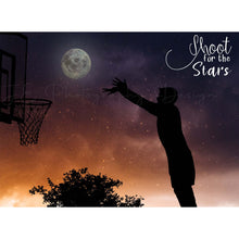 "Load image into Gallery viewer, Silhouette Basketball ""Shoot for the Stars"" Digital Template"
