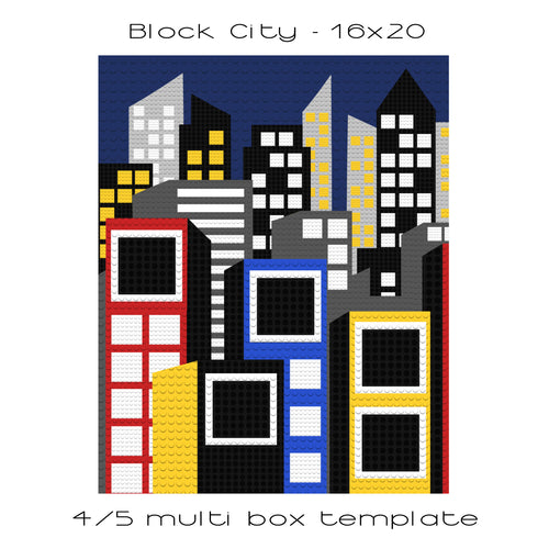 Block City 16x20 4/5 box template