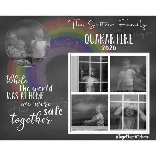 Quarantine Family Photo Template