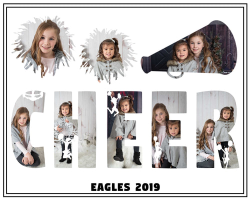 Cheer Squad Photo Template