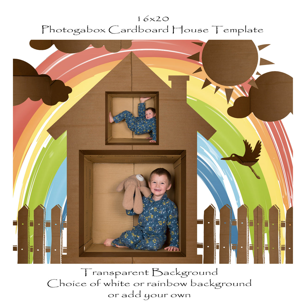 Photogabox Cardboard Box 2 Box - Double Story 16x20