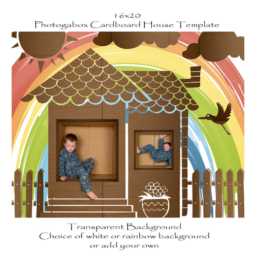Photogabox Cardboard House 2 Window Renos 16x20