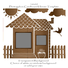 Load image into Gallery viewer, Photogabox Cardboard House 2 Window Renos 16x20