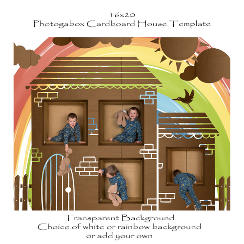 Photogabox Cardboard Box House 4 box 16x20
